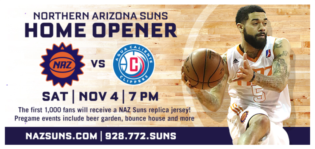 Season schedule NAZ Suns Prescott Valley Game Opener