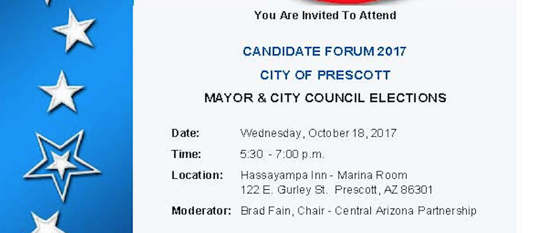 Prescott Candidate Forum October 18, 2017