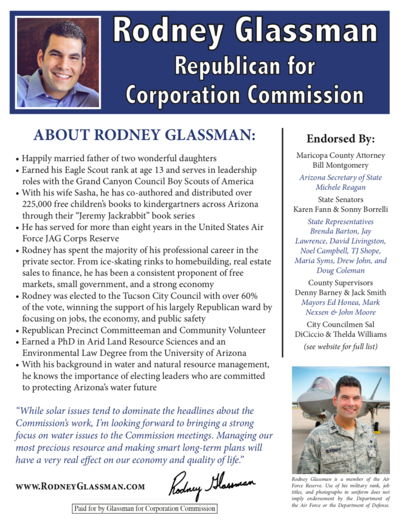 Rodney Glassman corporation commission