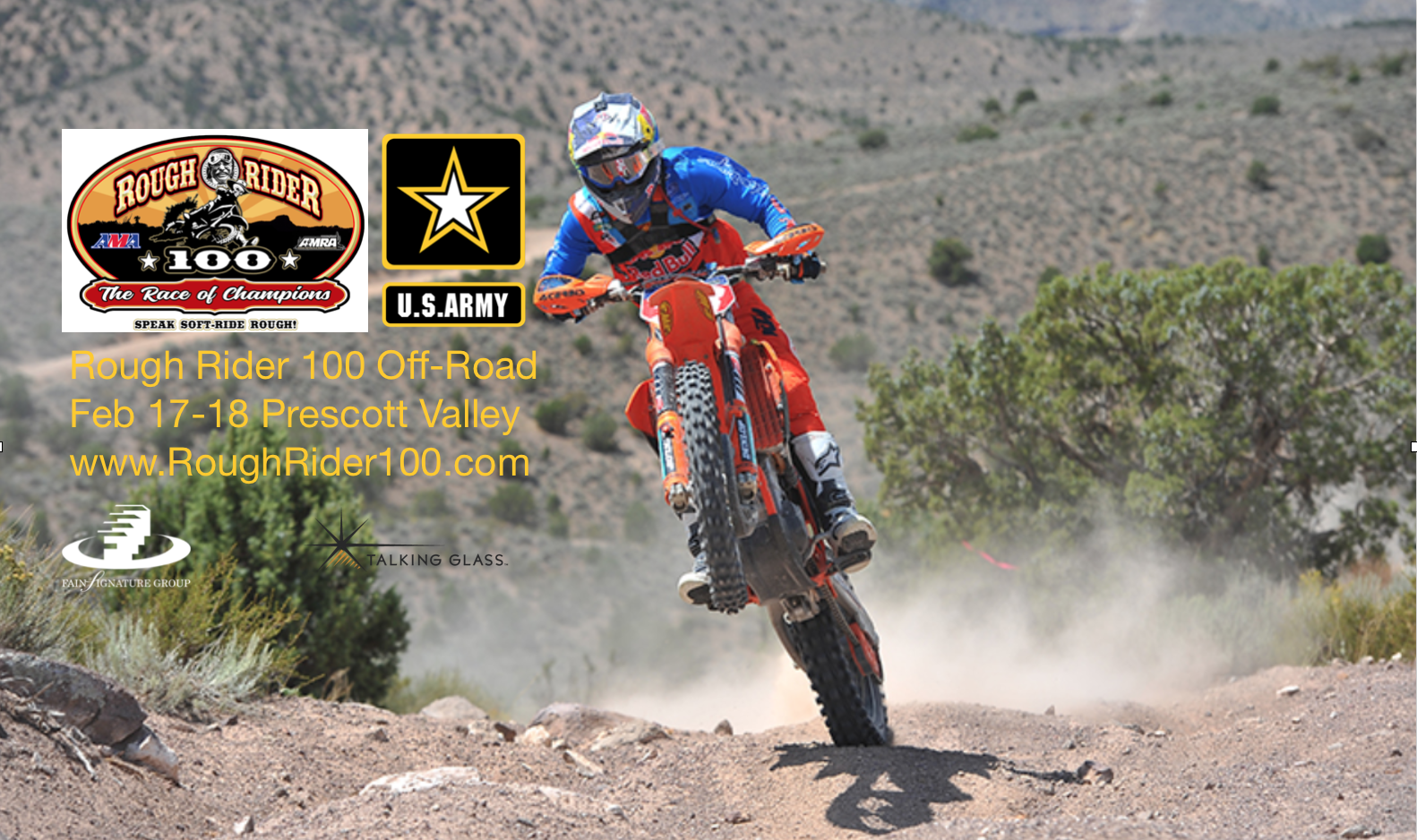 Prescott Valley Hosting 1st US Army Rough Rider 100 Off-Road Motorcycle Race