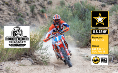 U.S. Army Rough Rider 100 Reception Kicks Off Prescott Valley's Off-Road Motorcycle Race Friday Feb 16 at Buffalo Wild Wings