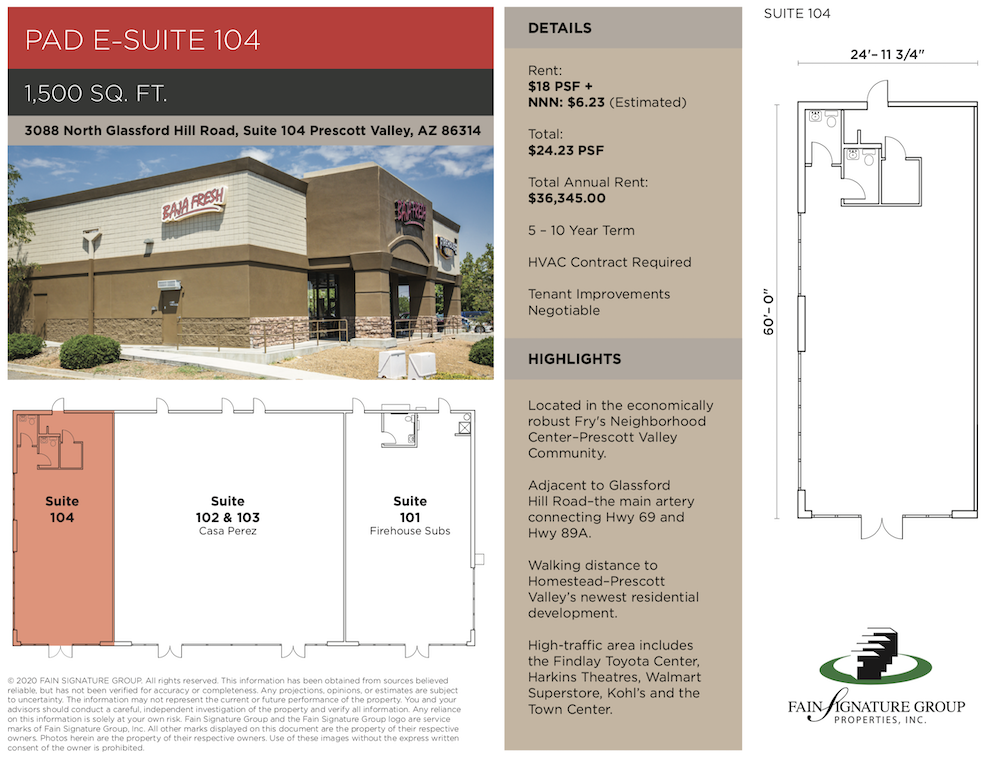 commercial real estate prescott valley for lease